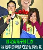 陳定南兒子陳仁杰:我眼中的陳歐珀是假情假意|台灣e新聞