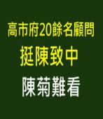 高市府20餘名顧問挺陳致中, 陳菊難看! |台灣e新聞