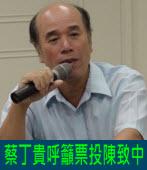 蔡丁貴呼籲票投陳致中 |台灣e新聞