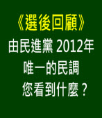 《選後回顧》由民進黨 2012年唯一的民調   您看到什麼?|台灣e新聞