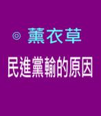 民進黨輸的原因∣ ◎ 薰衣草 |台灣e新聞