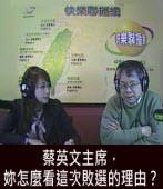 陳師孟:蔡英文主席,妳怎麼看這次敗選的理由 ?|台灣e新聞
