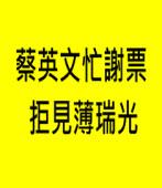 蔡英文忙謝票 拒見薄瑞光  |台灣e新聞