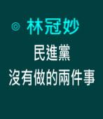 民進黨沒有做的兩件事∣◎ 林冠妙|台灣e新聞