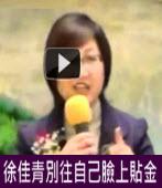 徐佳青別往自己臉上貼金 |台灣e新聞