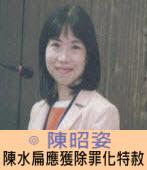 陳昭姿:陳水扁應獲除罪化特赦|台灣e新聞