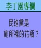 民進黨是廁所裡的花瓶﹖ | 李丁園專欄|台灣e新聞