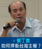 如何捍衛台灣主權?|◎蔡丁貴|台灣e新聞