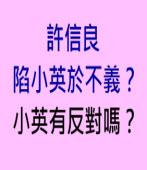 許信良 陷小英於不義?蔡小英有反對嗎?∣台灣e新聞