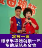 【請大家來投票】幫助單親基金會|台灣e新聞