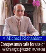 Congressman calls for use of TRA human rights protection in Chen case∣◎ Michael Richardson|台灣e新聞