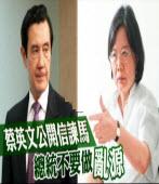 蔡英文公開信諫馬 總統別做亂源 |台灣e新聞
