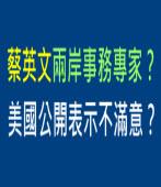 蔡英文兩岸事務專家?美國公開表示不滿意? |台灣e新聞