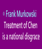Treatment of Chen is a national disgrace ∣By Frank Murkowski |台灣e新聞
