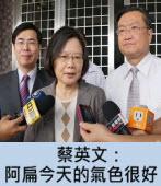 蔡英文:阿扁今天的氣色很好 |台灣e新聞