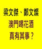 梁文傑鄭文燦澳門喝花酒 真有其事?|台灣e新聞