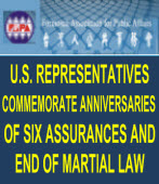 U.S. REPRESENTATIVES COMMEMORATE ANNIVERSARIES OF SIX ASSURANCES AND END OF MARTIAL LAW|台灣e新聞