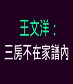 王文洋:三房不在家譜內|台灣e新聞