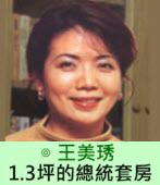 〈星期專論〉1.3坪的總統套房 ∣ ◎王美琇|台灣e新聞