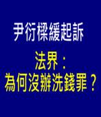 尹衍樑緩起訴 法界:為何沒辦洗錢罪?|台灣e新聞