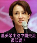 蕭美琴出訪中國交流 很低調? |台灣e新聞