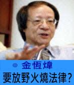 要放野火燒法律? ∣◎ 金恆煒∣台灣e新聞