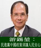 游錫?︰民進黨中國政策須讓人民安心|台灣e新聞