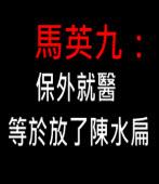 馬英九:保外就醫就等於放了陳水扁∣台灣e新聞