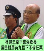 林錫忠拿下礁溪鄉長 民進黨:選民對馬英九投下不信任票∣台灣e新聞