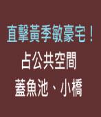 直擊黃季敏豪宅!占公共空間蓋魚池、小橋 |台灣e新聞