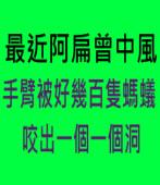 最近阿扁曾中風,手臂被好幾百隻螞蟻咬出一個一個洞∣台灣e新聞