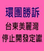 環團勝訴 台東美麗灣 停止開發定讞 ∣台灣e新聞
