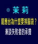 茉莉: 龍應台為什麼要換腦袋?——兼談失敗者的承擔 ∣台灣e新聞