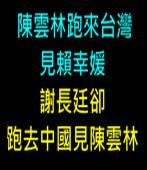 陳雲林跑來台灣見賴幸媛,謝長廷卻跑去中國見陳雲林 ∣台灣e新聞