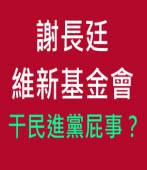 謝長廷維新基金會 干民進黨屁事?∣台灣e新聞