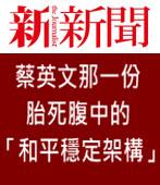 蔡英文那一份胎死腹中的「和平穩定架構」|台灣e新聞