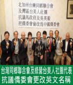 僑委會改英文名 綠營社團抗議|台灣e新聞