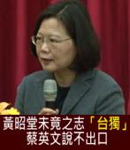 黃昭堂未竟之志「台獨」,蔡英文說不出口|台灣e新聞