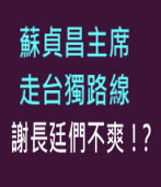 蘇貞昌主席走台獨路線,謝長廷們不爽!?|台灣e新聞
