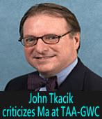 John Tkacik criticizes Ma at TAA-GWC∣台灣e新聞