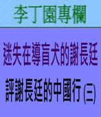 迷失在導盲犬的謝長廷  評謝長廷的中國行 (三)∣◎ 李丁園∣台灣e新聞