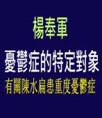 憂鬱症的特定對象∣◎ 楊奉軍∣台灣e新聞