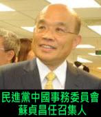 民進黨設中國事務委員會 蘇貞昌任召集人|台灣e新聞