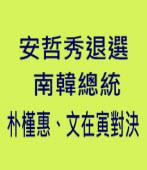 安哲秀退選 南韓總統朴槿惠、文在寅對決 |台灣e新聞
