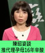 陳昭姿談推代理孕母16年辛酸|台灣e新聞
