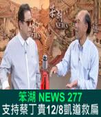 《笨湖 NEWS 277》支持蔡丁貴12/8凱道救扁