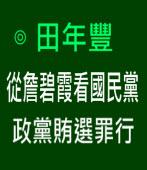 從詹碧霞看國民黨政黨賄選罪行∣◎ 田年豐∣台灣e新聞