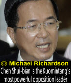 Chen Shui-bian is the Kuomintang's most powerful opposition leader∣◎Michael Richardson|Taiwanenews.com