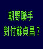 朝野聯手對付蘇貞昌?|台灣e新聞