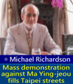 Mass demonstration against Ma Ying-jeou fills Taipei streets|◎Michael Richardson